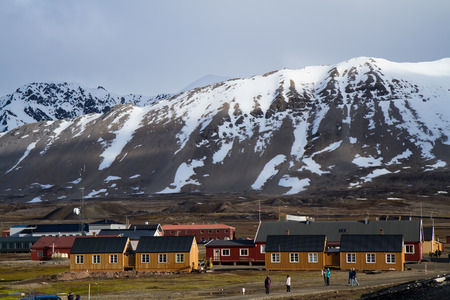 svalbard: ny alesung in the svalbard island near north pole Editorial