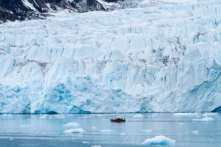 glaciers: landscape of the svalbard glaciers and nature Stock Photo