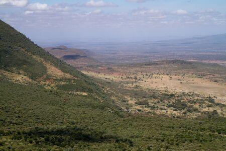 rift: view of the rift valley from nairobi