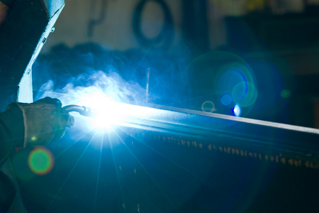 metalworker at work in his workshop