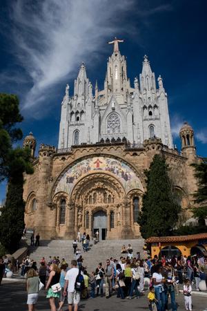 sagrat cor: spain, barcelona church, tibidabo