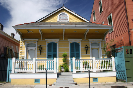 historica: typical houses in historica centre of new orleans