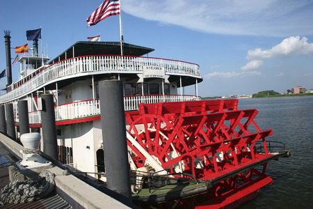 new orleans boat to cross the mississipi river Banque d'images