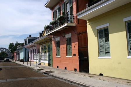 typical houses in historica centre of new orleans