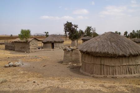 tanzania: oldonyo masai village in tanzania Stock Photo
