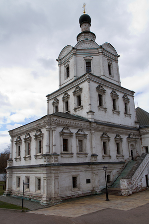 cloister: picture of the most ancient monastery of moscow