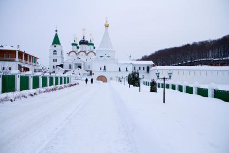 monastery of the ancient town of gorky Stock Photo