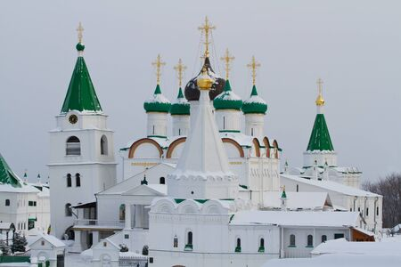 reverent: monastery of the ancient town of gorky Stock Photo