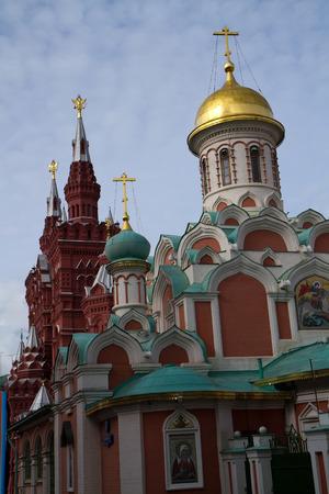 kazansky: kazan cathedral near kremlin in moskow