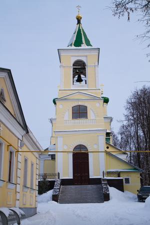 reverent: church of gorky russia Stock Photo