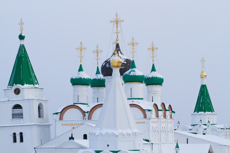 monastery of the ancient town of gorky Editorial