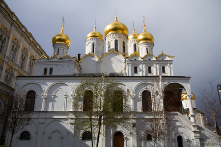images of the churches in cathedral square inside the kremlin Stock Photo