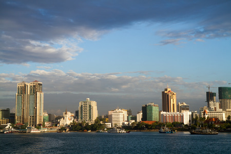 dar es salaam view form the ferry boat