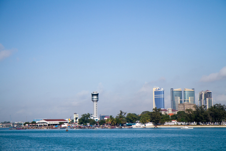 dar es salaam view from the ferry boat Editorial