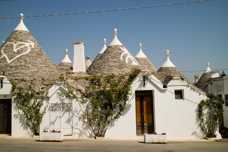 traditional houses in alberobello, italy Editorial