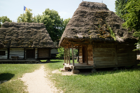 dwelling: typical wooden house of romania