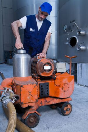 repairman at work during maintenance work