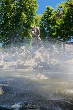 catania: Proserpine Fountain in Catania Stock Photo