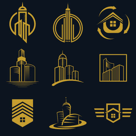 Real Estate vector Icon Design For Business And Company Fully Editable Vector Illustratie