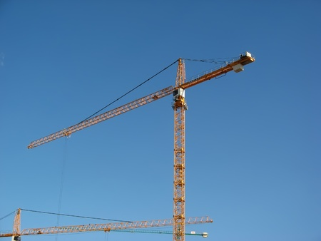 Steel crane, general view over blue sky Stock Photo - 8495778