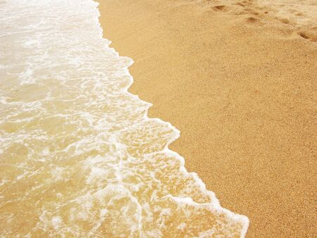 Sea shore, foamy water at Costa Brava(Spain)
