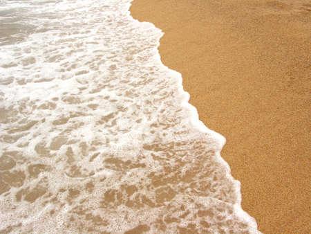 shore line: Shore line in beach (Costa Brava, Spain) Stock Photo