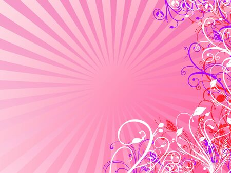 flowered: Abstract pink and colorul illustration Stock Photo