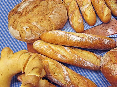 Bread baguettes and buns still life Stock Photo - 9936489