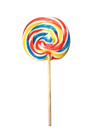 Colorful lollipop isolated in white photo