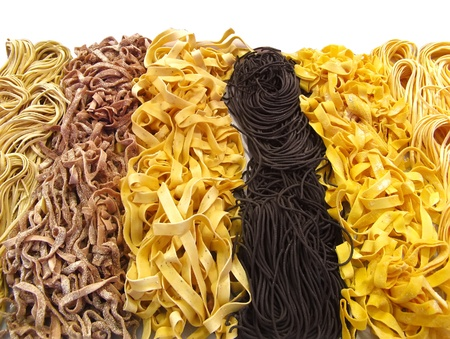 farinaceous: Different kinds of dried italian pasta
