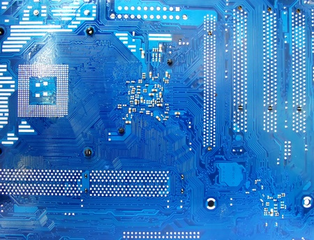 Abstract motherboard card background. New technologies Stock Photo