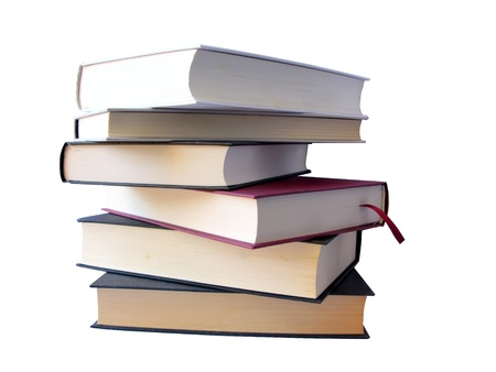 publisher: Books pile isolated in white, with clipping path