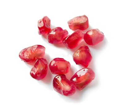 Red pomegranate seeds close up Stock Photo - 10539109
