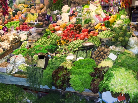 Some fresh fruits and vegetables in the market Stock Photo - 10539116