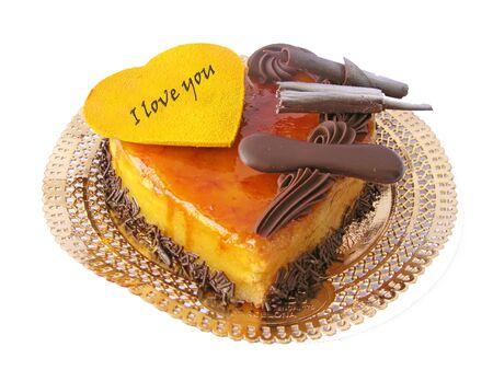 fancy cake: Chocolat and cream valentine cake, heart shaped