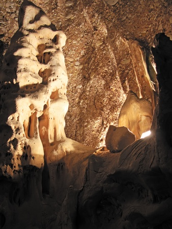 carbonate: Rock formation inside a cave Stock Photo