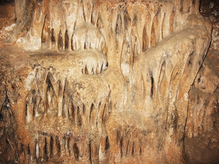 limestone: Rock formation inside a cave Stock Photo