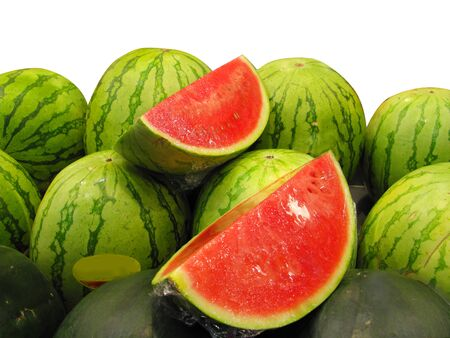 Watermelons in the market Stock Photo - 10681971