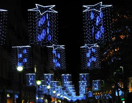 Christmas lights in Barcelona street photo
