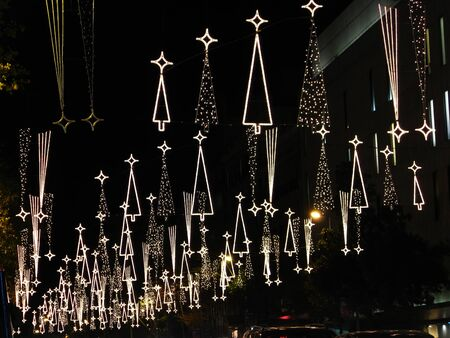 Christmas lights in Barcelona street Stock Photo - 10704626