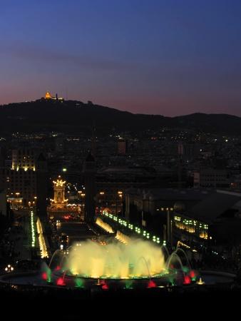 Barcelona city night view