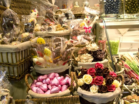 sugarcoat: Sweets and dried fruits in the market Stock Photo