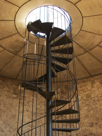 Vertical spiral staircase picture