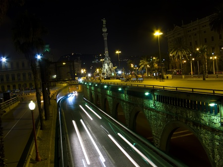 Traffic lights at night, shoot at low speed to get that blurred and trail effect. It