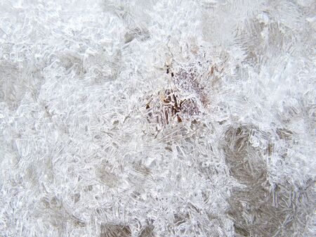 earth tone: Ice texture over the ground