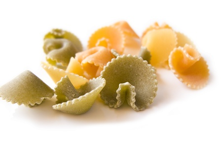 Italian pasta isolated over white background Stock Photo - 11917634