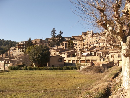 little town: Little town in the country (Catalonia, Spain) Stock Photo