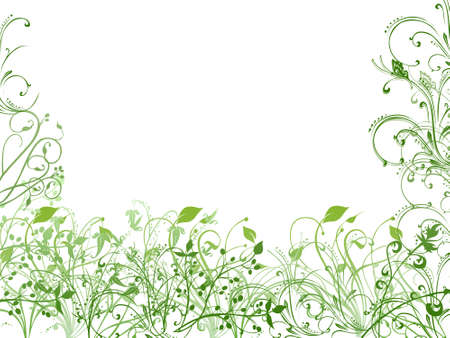 ornated: Green and white spring wallpaper