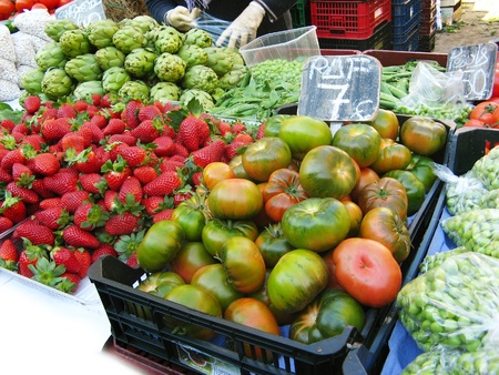 Fruits and vegetables at the market Stock Photo - 12373421