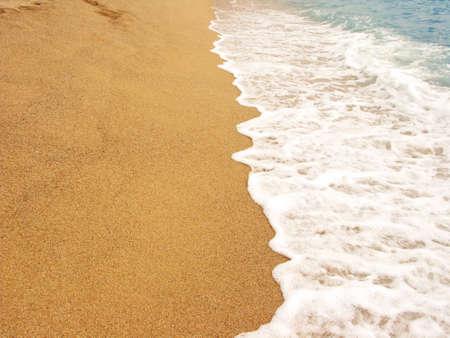 foamy: Foamy shore line in the beach  Costa Brava, Spain